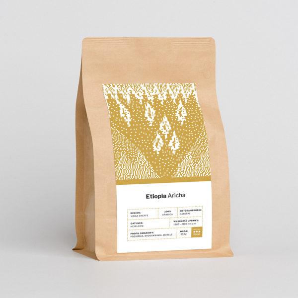 Etiopia Aricha (speciality) - świeżo palona kawa ziarnista, profil smakowy: morele, brzoskwinia i poziomki